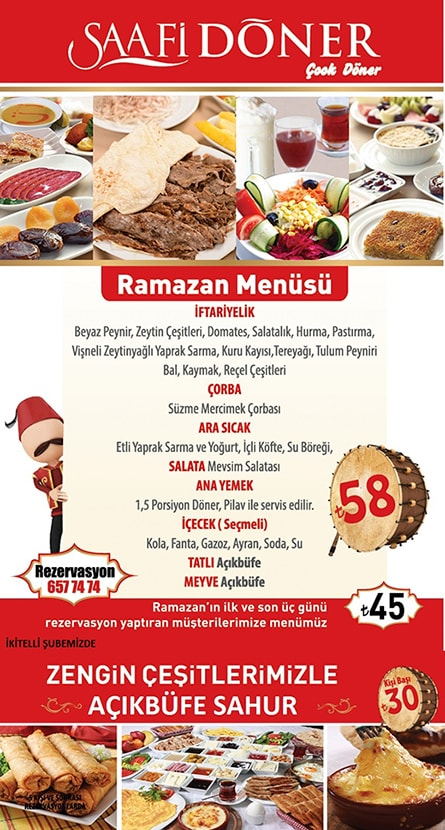 saafi döner güneşli istanbul iftar menü