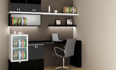 kantor mini yang keren dalam rumah