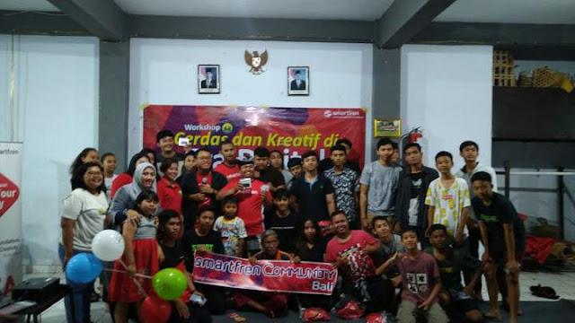 SmartFren Untuk Bali di banjar Bhumi Santi Denpasar Barat