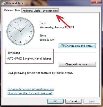 Cara Sinkronisasi Waktu di Komputer Dengan Waktu Internet