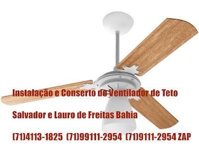 Ventilador de teto com baixa rotação consertamos em Salvador-Ba-71-99111-2954