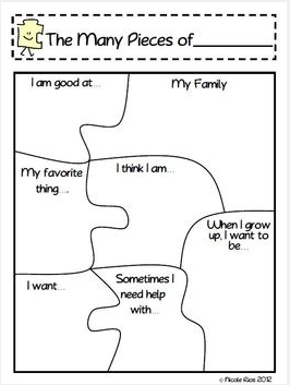 "This ""The Many Pieces of Me"" Activity is available in my Tpt store ..."