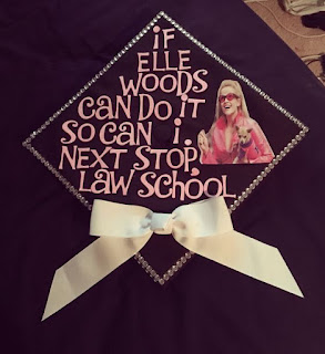 Law School Bound Grad Caps | brazenandbrunette.com