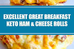 Excellent Great Breakfast Keto Ham and Cheese Rolls