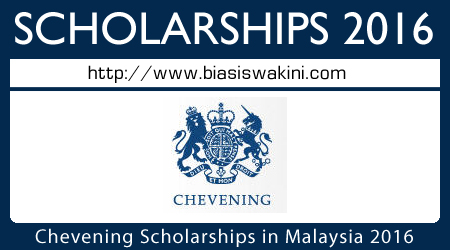 Chevening Scholarships in Malaysia 2016