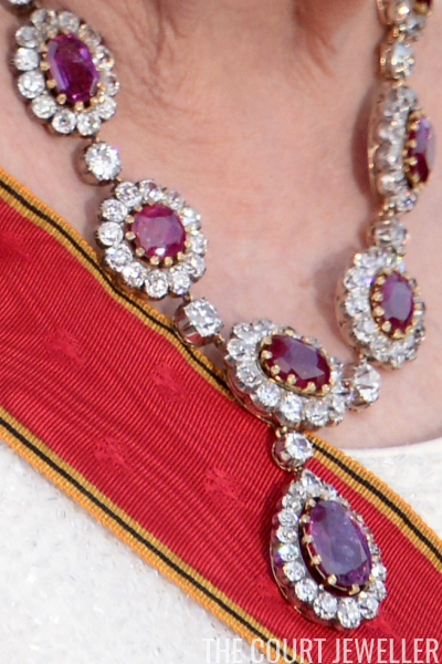 Royal ruby necklaces the court jeweller photo robert michaelafpgetty images aloadofball Images