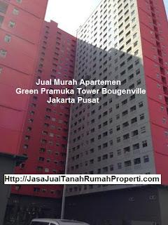 Jual murah apartemen green pramuka tower bougenville jakpus