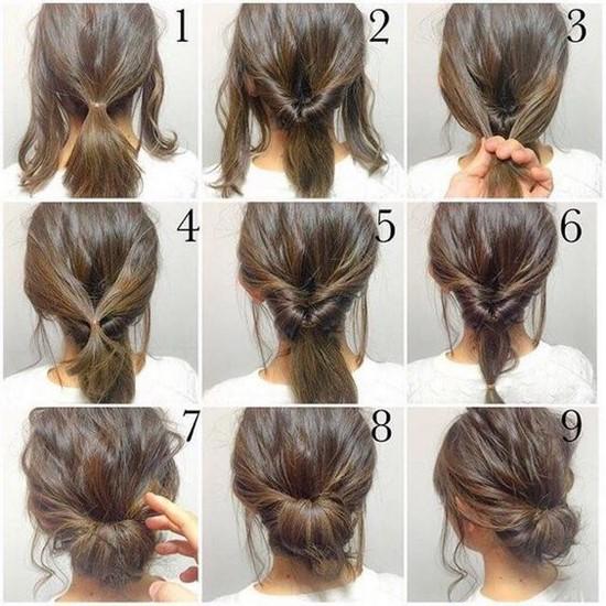 Peinados faciles para melenas largas