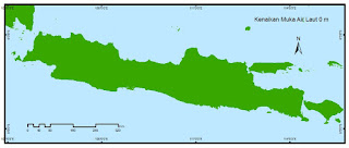 Beginilah Peta Pulau-Pulau Indonesia kalau Air Laut Naik Ratusan Meter