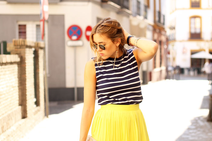 yellow pleats