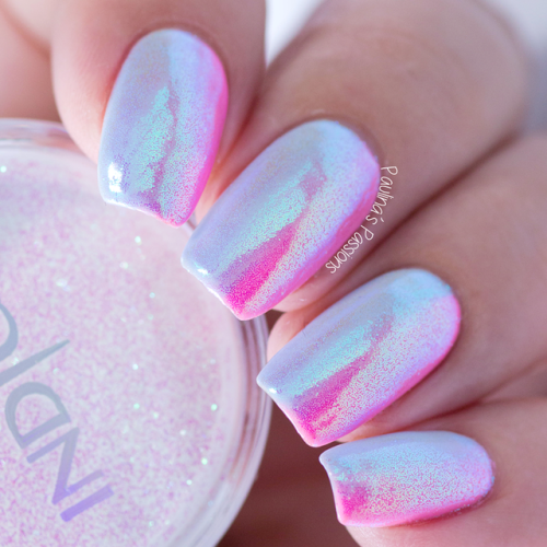 Powder Pink Iridescent Unicorn Music Festival Nails Nail Art Essentials Tutorial