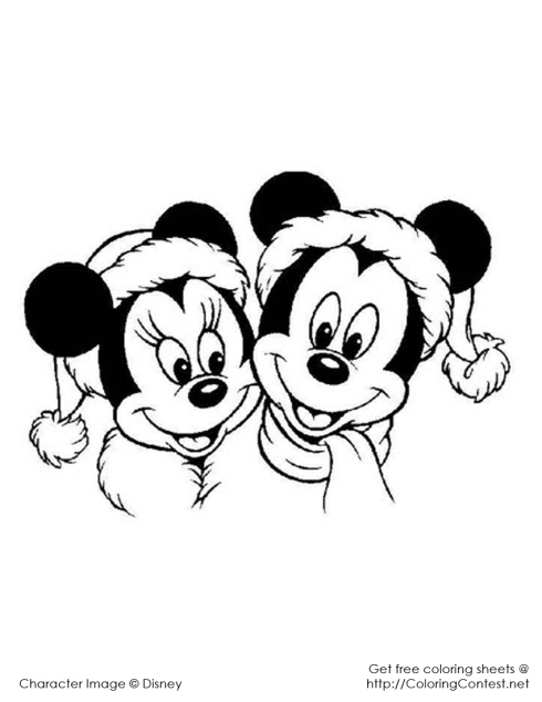 Kleurplaat Mickey En Minnie Kerst My Home ά ί ή Mickey