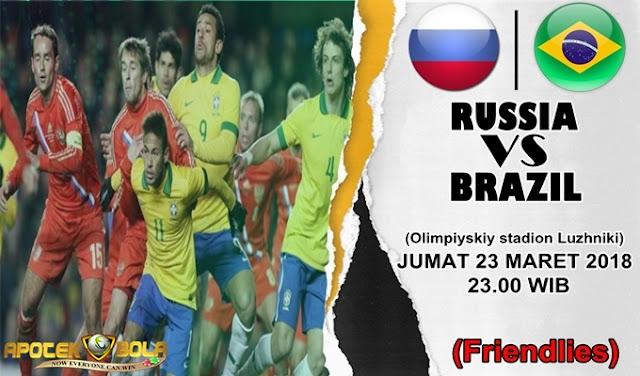Prediksi Rusia vs Brazil 23 Maret 2018