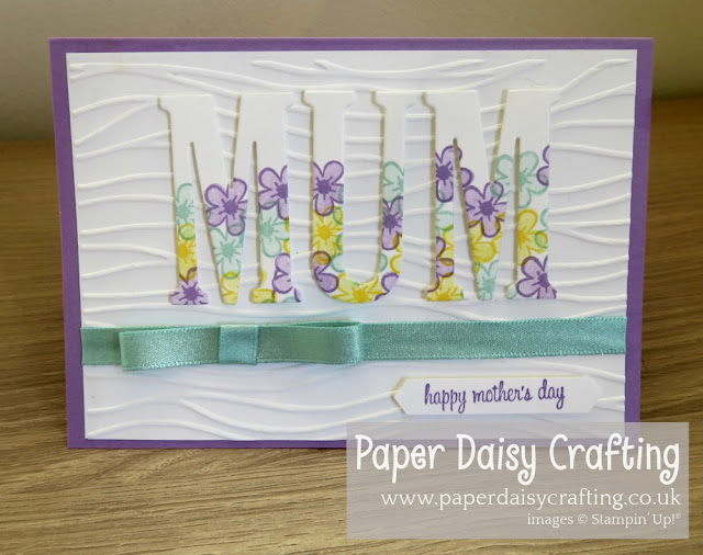 Large Letters Mothers Day card Stampin Up