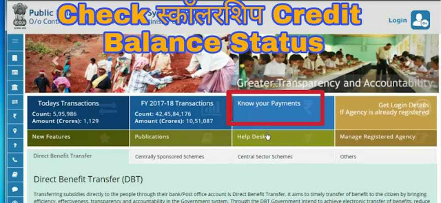 Scholarship balance check