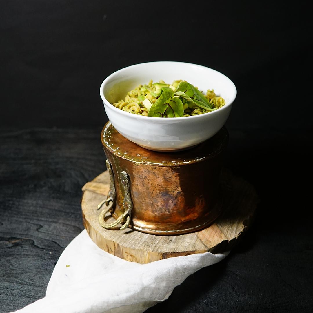 linssipasta, avokado, avokadoruoka, pasta