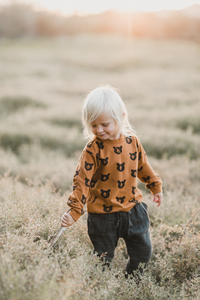 Rylee + Cru AW16 collection - bear sweatshirt