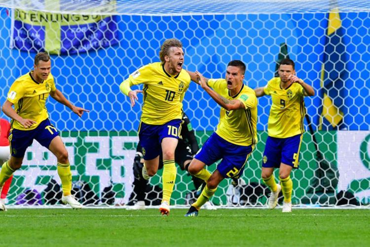 BENI COMUNICAÇÃO  Suécia bate a Suíça e volta às quartas de final da ... c7e94ff2a236a