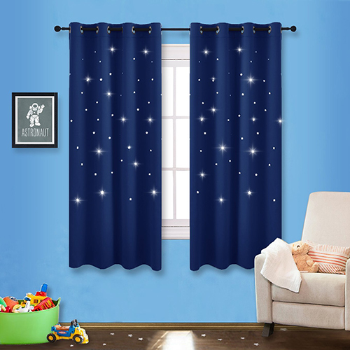 Romantic Starry Sky Blackout Curtains