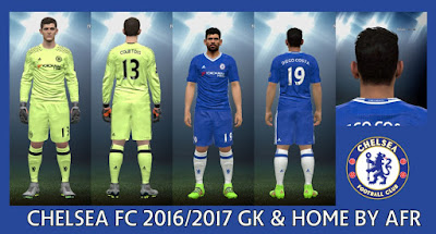 PES 2016 Chelsea FC 2016-2017 GK & Home Kits by AFR