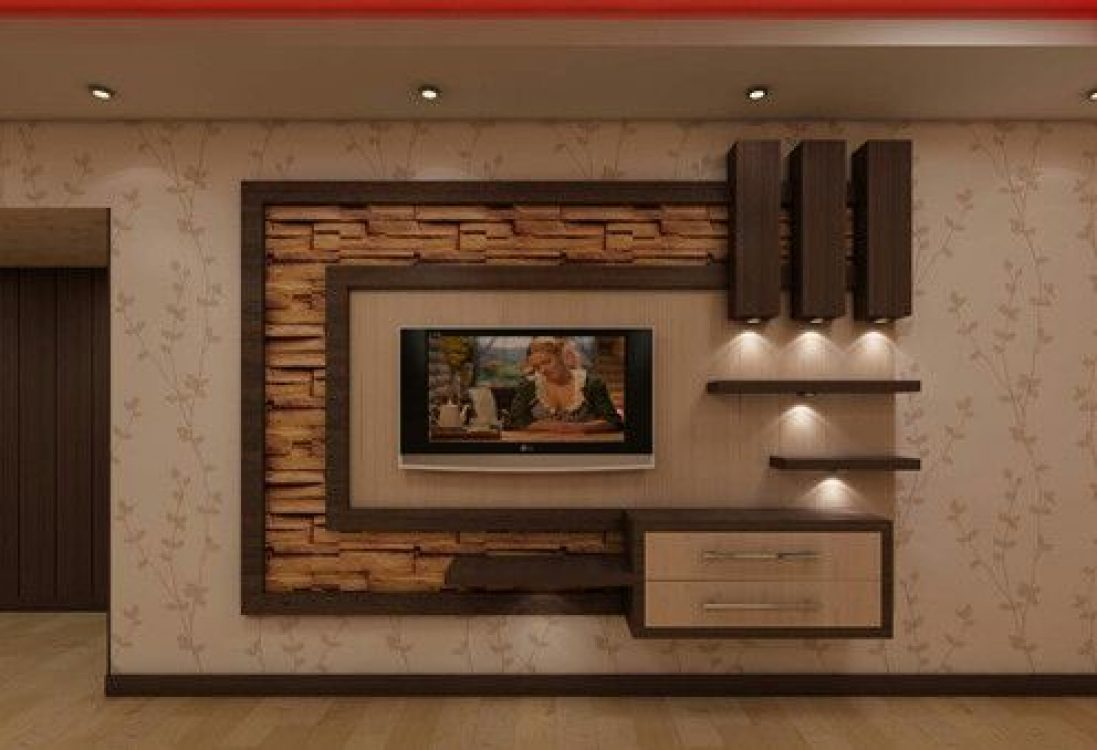 Modern TV wall units: Living room tv cabinet design catalogue 2019