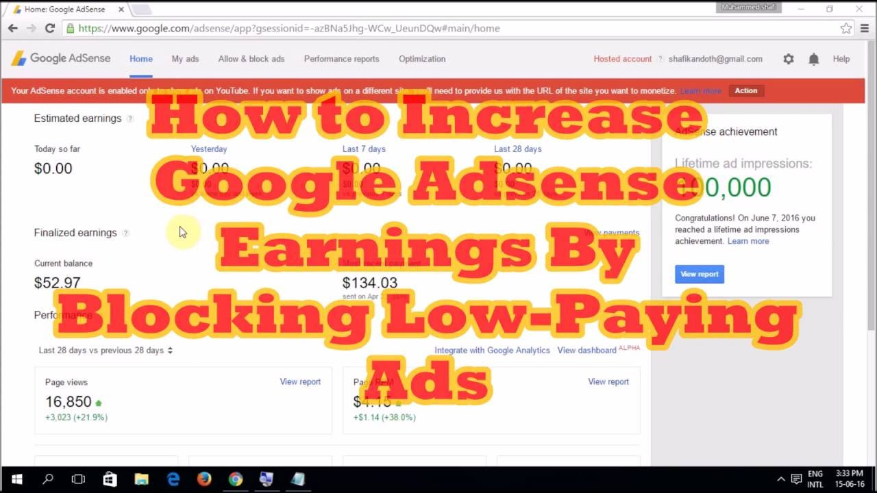 Image result for How to Increase Google Adsense Earnings By Blocking URL