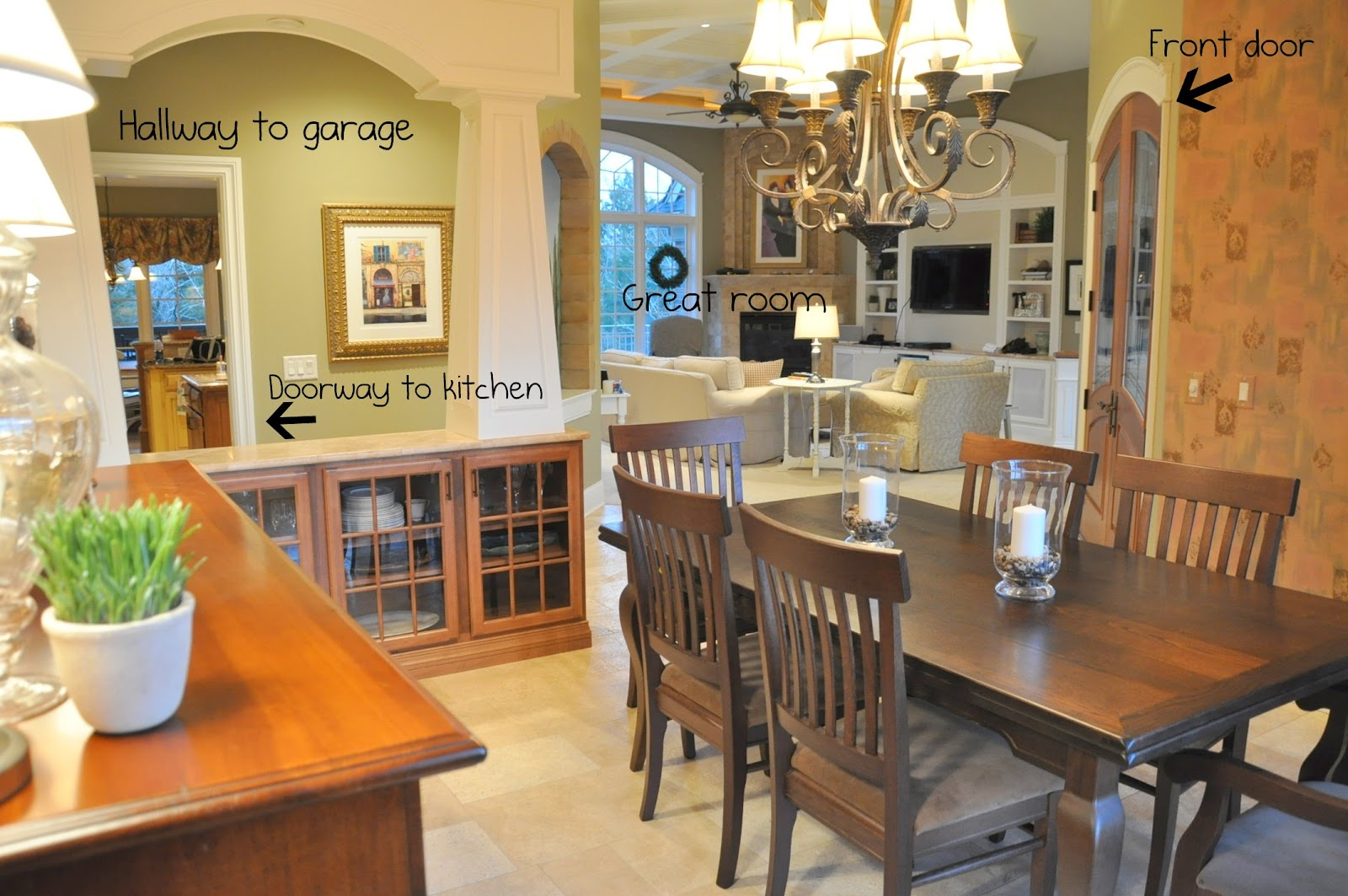 Here Is Another Picture So You Can See How When Walk In The Front Door Dining Room RIGHT There