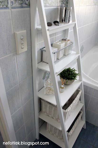 Ladder Shelf Bathroom Ideas