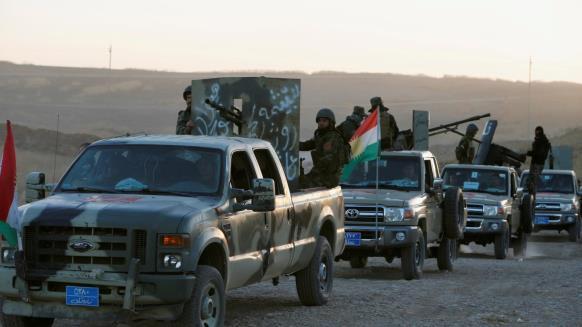 """قوات البشمركة تتقدم نحو مفرق الحمدانية قرب مدينة الموصل، """" عملية تحرير الموصل """""""
