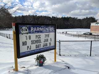 Parmenter sign with current events
