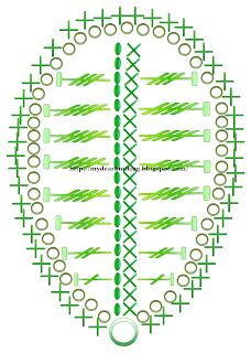 листик лилии крючком