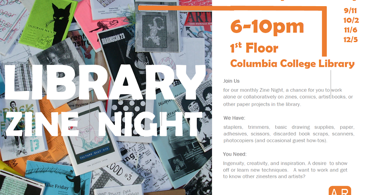 Aesthetics of research fall zine night schedule for 1200 first street ne 5th floor