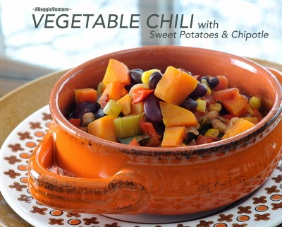 Vegan Vegetable Chili with Sweet Potatoes & Chipotle