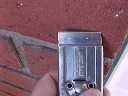 Metal razor blade into metal handle