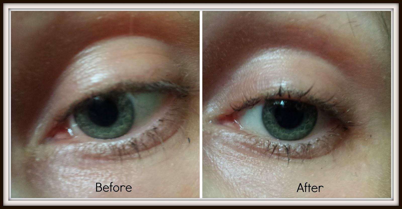 Honey Lighten Eyes Before After   Dark Brown Hairs