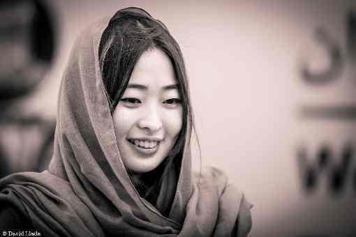 La Chinoise Ju Wenjun (2583), favorite de la compétition d'échecs - Photo © David Llada