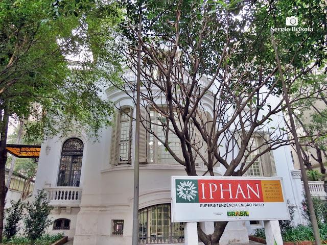 Vista ampla do Casarão do IPHAN - São Paulo - Santa Cecília - São Paulo