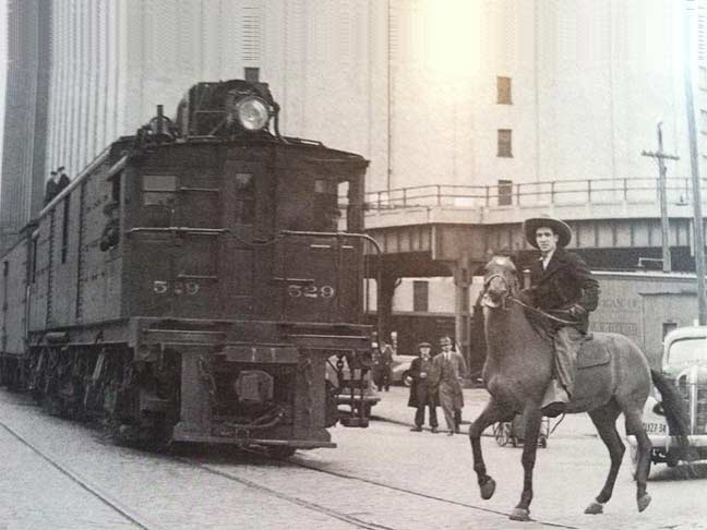 29 March 1941 worldwartwo.filminspector.com urban cowboy High Line freight train