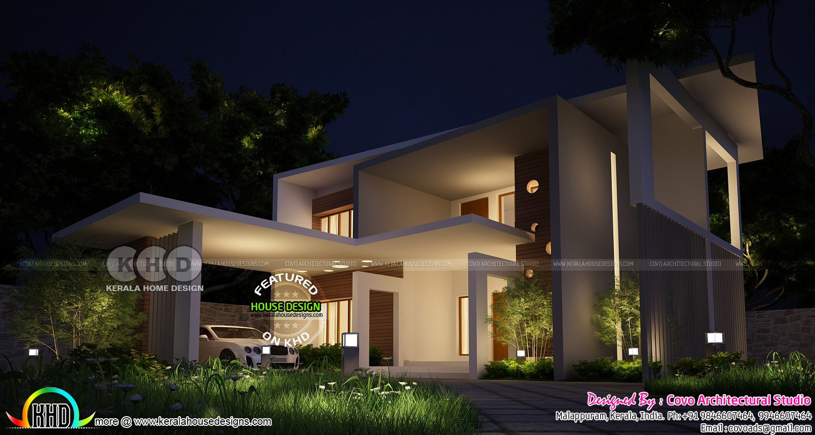 2000 square feet modern contemporary home kerala home for 2000 sq ft contemporary house plans