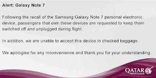Larangan Samsung Note 7