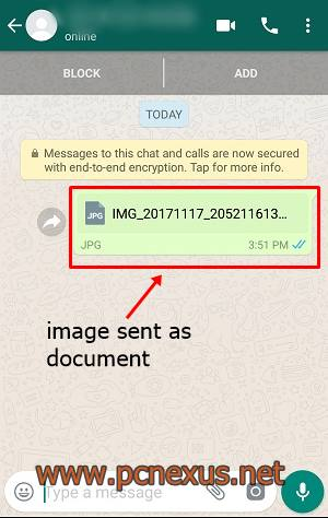 send pictures without losing quality whatsapp