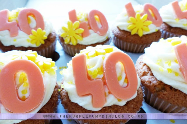 [Orange & Yellow 40th Birthday Party] Cupcakes!