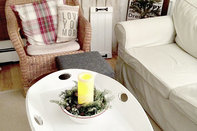 DIY Removable Tray Coffee Table