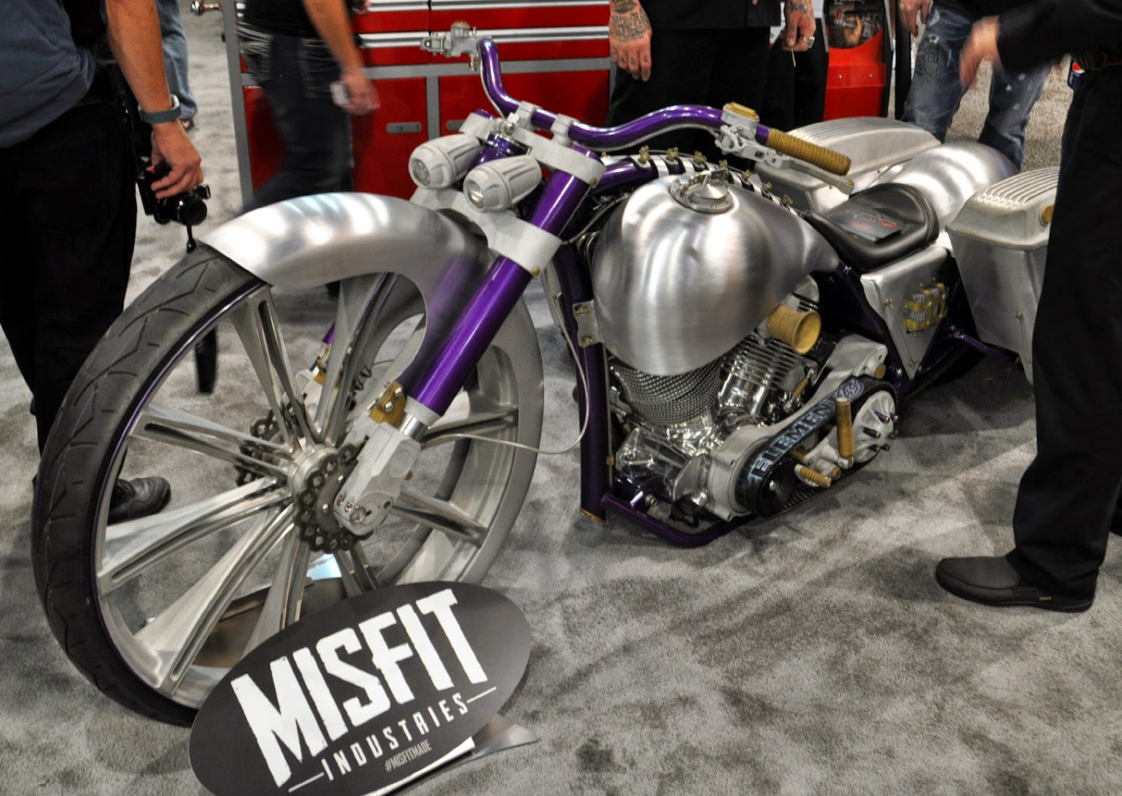 Custom Hood Ornaments >> Just A Car Guy: Misfit Industries motorcycle has some cool ...