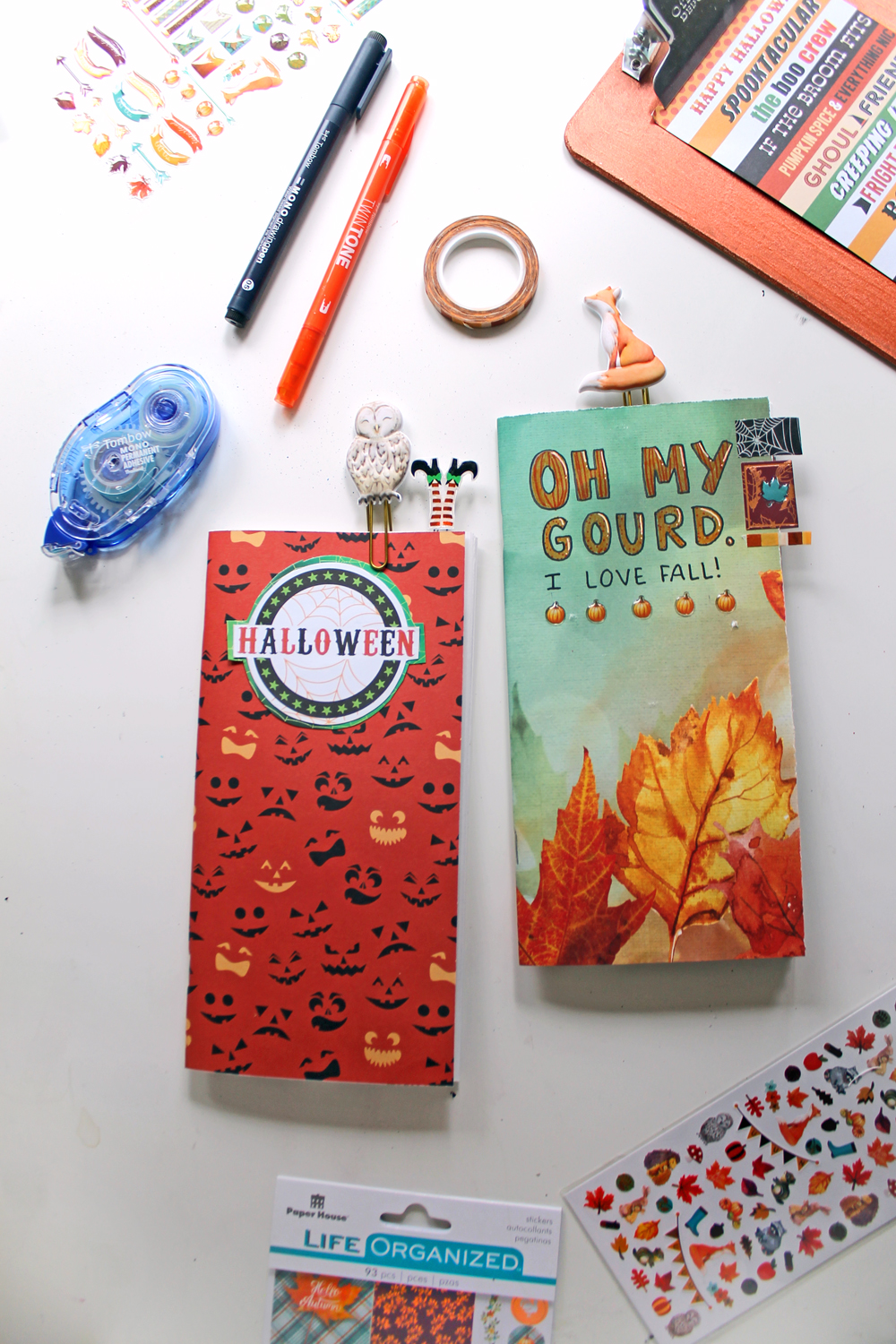 DIY Fall Travelers Notebook Inserts