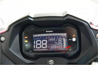 Suzuki GSX-R150 speed mitor