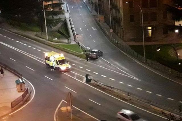 Uno de los cuatro accidentes registrados en Burtzeña en enero, el ocurrido la noche del día 17