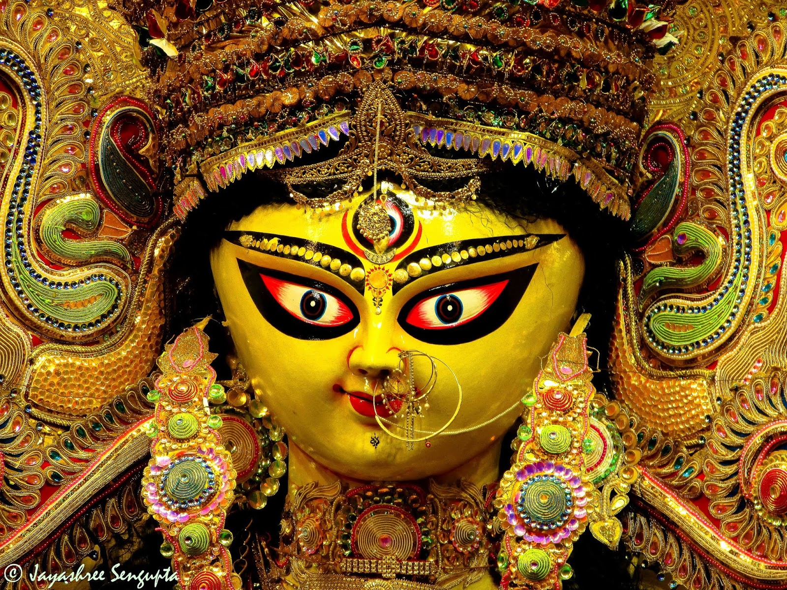 The Durga  idol of Maddox Square