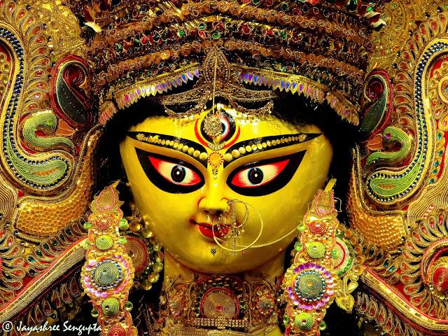 The Durga  idol of Maddox Square