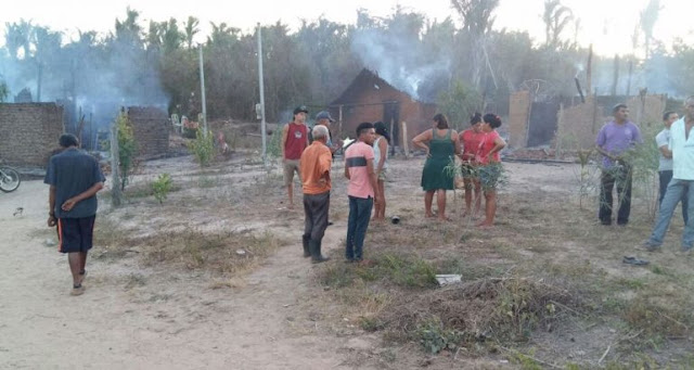 Homem é preso após agredir pai e atear fogo em três residências